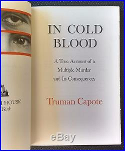 Truman Capote In Cold Blood 1965 Signed Limited 1st First Edition Hardcover