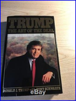 Trump The Art of the Deal First Edition Hard copy signed By Trump and Schwartz