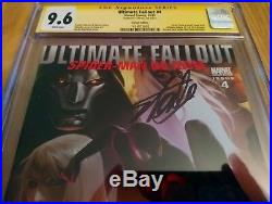Ultimate Fallout #4 Djurdjevic Variant 1st Miles Morales CGC 9.6 Signed Stan Lee
