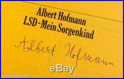VERY RARE SIGNED True 1st Edition LSD Mein Sorgenkind by Albert Hofmann (German)