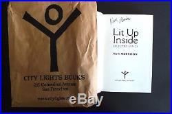 Van Morrison's Lit Up Inside signed First Edition City Lights New