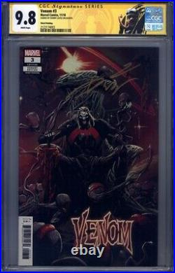 Venom (2018, Scarce 3rd Print Variant!) #3 CGC 9.8 (SS) Signed by Donny Cates