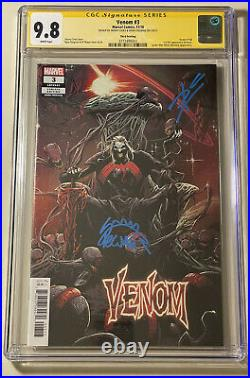 Venom 3 CGC 9.8 3rd Print Variant 1st Knull Signed By Cates & Stegman