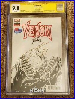 Venom 3 CGC 9.8 SDCC Variant 1st App Knull Signed Donny Cates