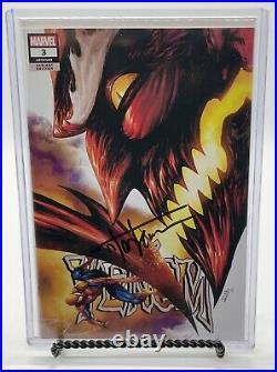 Venom # 3 Kirkham Variant SIGNED by Tyler Kirkham with COA 1st Appearance KNULL