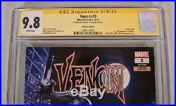 Venom 3 Marvel CGC SS 9.8 125 Jorge Molina Variant 1st Knull Signed Donny Cates