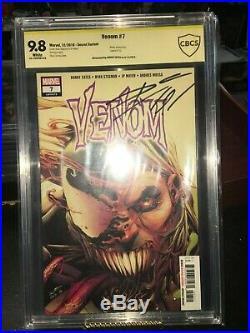 Venom #7 Secret Variant 9.8 Signature Cates CBCS Tongue Rare Signed 1st Brock