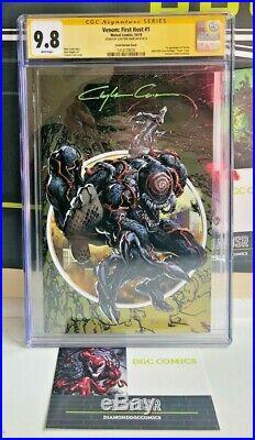 Venom First Host #1 Cgc Ss 9.8 Signed Crain Variant Asm #300 Homage Tel-kar