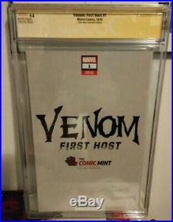 Venom First Host 1 NYCC VIRGIN Variant CGC 9.8 SS SIGNED & SKETCH REMARK MAYHEW