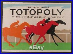 Vtg 1938 1st Edition Totopoly 23 Lead Horses Waddingtons Ltd Signed by Inventors