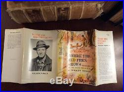 WHERE the RED FERN Grows SIGNED Wilson RAWLS HB/DJ 1961 FIRST Edition VERY GOOD