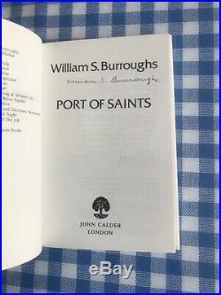 WILLIAM BURROUGHS Signed PORT OF SAINTS UK 1st Edition 1983 John Calder HBDJ