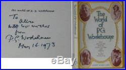 WIND World of P. G. Wodehouse SIGNED FIRST EDITION WithDJ
