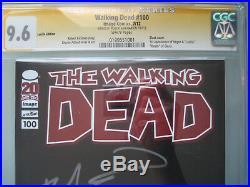 Walking Dead #100 Lucille Variant CGC 9.6 SS Signed Robert Kirkman 1st Negan
