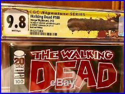 Walking Dead #100 Red Foil Edition SS CGC 9.8 1st NEGAN Signed Kirkman & Adlard
