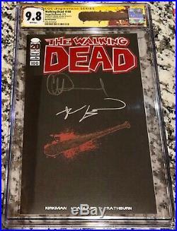 Walking Dead #100 Red Foil Edition SS CGC 9.8 Signed Kirkman & Adlard 1st NEGAN