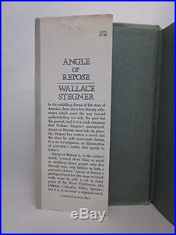 Wallace Stegner SIGNED The Angle of Repose First Edition HC/DJ