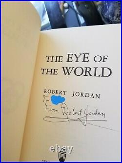 Wheel of Time Robert Jordan 1-14 Complete Set Signed / 1st Edition / 1st Print