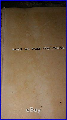 When we were very young. Book. First Edition. First Print. 500 copy Tracked. Signed