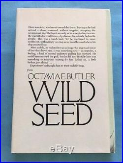 Wild Seed First Edition Signed By Octavia E. Butler