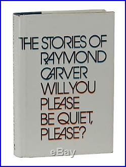 Will You Please Be Quiet Please SIGNED by RAYMOND CARVER First Edition 1st