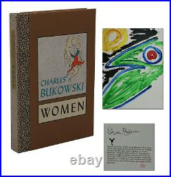 Women CHARLES BUKOWSKI Signed Limited First Edition w Original Painting 1978 1st