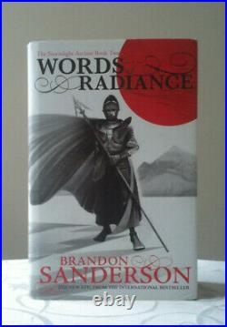 Words of Radiance by Brandon Sanderson (Hardback, 2014) Signed First Edition