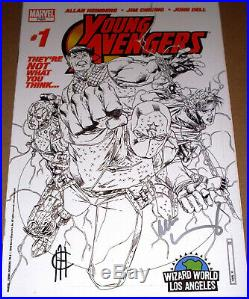 Young Avengers #1 Sketch Variant SIGNED Heinberg Cheung 1st Kate Bishop Wizard