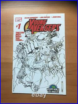 Young Avengers 1 Wizard World Sketch Variant 1st Kate Bishop Signed Cheung 2005